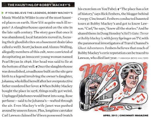 Bobby Mackey Cincinnati Magazine