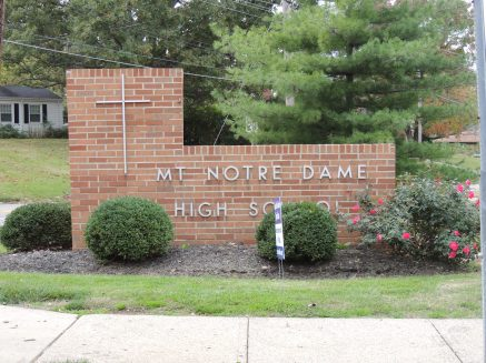 Mt Notre Dame sign